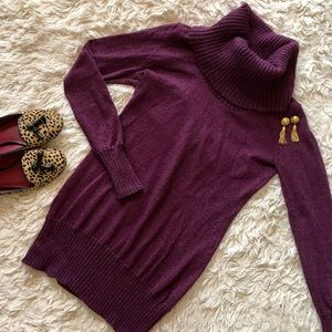 Limited Cowl Neck Sweater Turtle Neck Plum